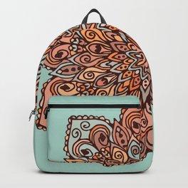 Mandala in Brown Tones Backpack