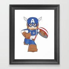 Lego Captain Framed Art Print