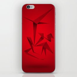 RED ANGLE iPhone Skin