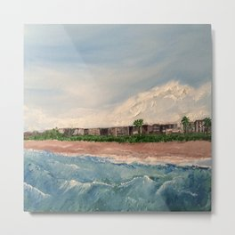 Cocoa Beach  Oil on canvas Metal Print