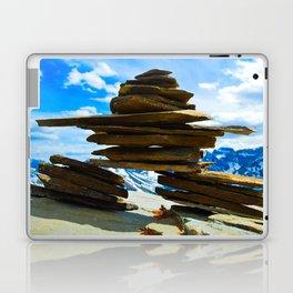 Inukshuk on Whistlers Mt in Jasper National Park, Canada Laptop & iPad Skin