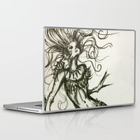 sassy Laptop & iPad Skins featuring Sassy Mermaid by OnceUponAWonderland