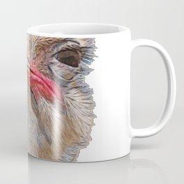 Ostrich Face Meme Bird Seems Suspicious Wary Behavior Coffee Mug