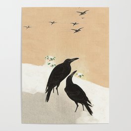 Crows from Koson Poster