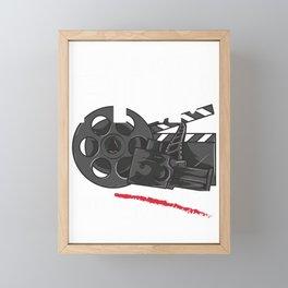 Shoot Film Not Guns Peaceful Filmmaker Director Framed Mini Art Print