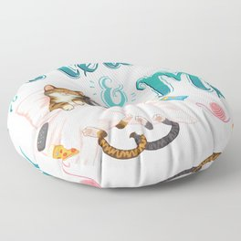 Mew and Me Floor Pillow