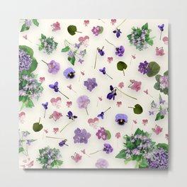 Delicate Violets Metal Print