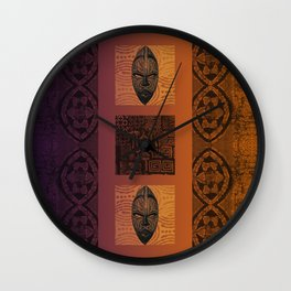 Ethnic 3 - African Style Pattern Wall Clock
