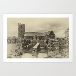 Parish Church of Saint Materiana at Tintagel Art Print