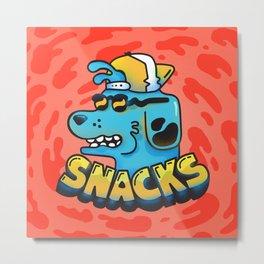 Snacks Dawg Metal Print