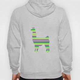 Llama Stripes Hoody