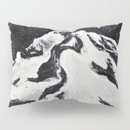 Mount Hood and Stars Pillow Sham