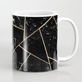 Black Marble Gold Geometric Glam #1 #geo #decor #art #society6 Coffee Mug