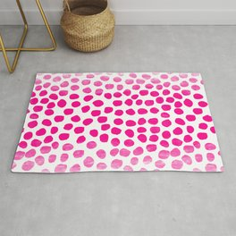 Ombre dots cute hot pink trendy must have gifts for college dorm room decor affordable painting Rug
