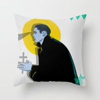vampire diaries Throw Pillows featuring Vampire by Musya