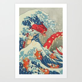 The Great Red Wave I Art Print