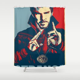 Obey Strange doctor Shower Curtain