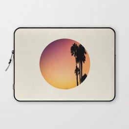 Palm Tree Silhouette & Orange Purple Sunset Laptop Sleeve