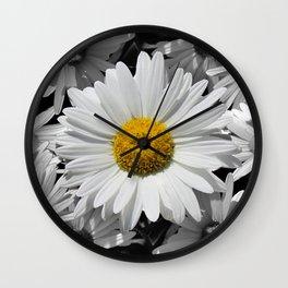 Cheerful Daisy Flower A197 Wall Clock