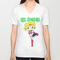 manga V-neck T-shirts featuring manga. by KillGorgons