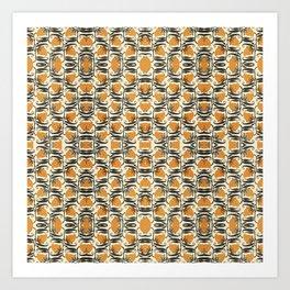 Orange Garden Pattern 2 Art Print