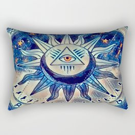 Tarot Moon Card Acrylic Rectangular Pillow