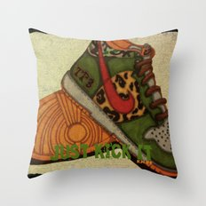 Just Kickin It! Throw Pillow
