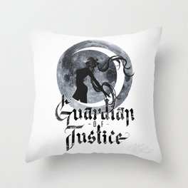 Guardian of Justice Throw Pillow
