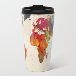 ALLOVER THE WORLD-Painted map Travel Mug