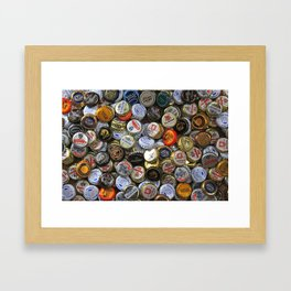 Beer-caps Galore Framed Art Print