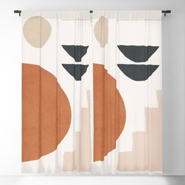 Abstract Minimal Shapes 37 Blackout Curtain