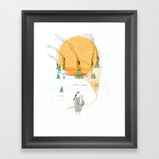 Beach House - Norway Framed Art Print