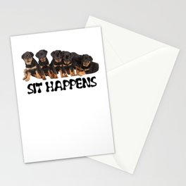 Sit Happens Stationery Cards