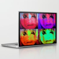 kris tate Laptop & iPad Skins featuring Sharon Tate by Joe Ganech