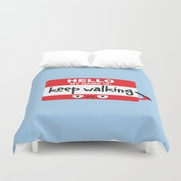 The Red Badge of Discourage Duvet Cover