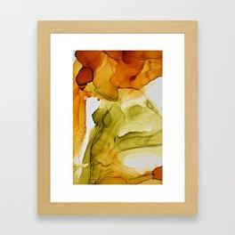 Autumn Ink Composition Framed Art Print