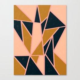 Gold tape art Canvas Print