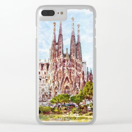 La Sagrada Familia watercolor Clear iPhone Case