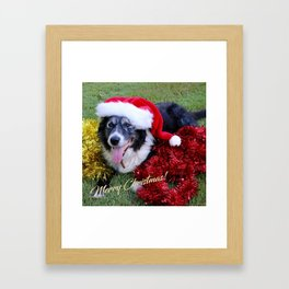 Christmas Wishes From Molly Framed Art Print