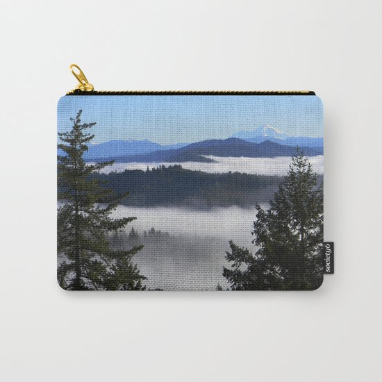 Bird's eye view of Mount Shasta Carry-All Pouch