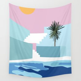 Pool & Steps Wall Tapestry