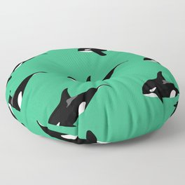 Orca Whales Floor Pillow
