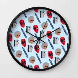 red hero Wall Clock