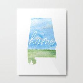 Alabama Home State Metal Print