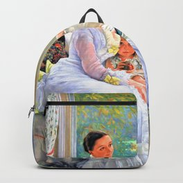 Portrait of Mrs Catherine Smith Gill and Two of her Children - Digital Remastered Edition Backpack