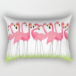 Cuban Pink Flamingos Rectangular Pillow