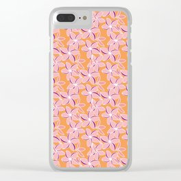 Frangipani 2 Clear iPhone Case