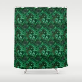 malachite Shower Curtain