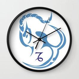 Capricorn, The Sea Goat   God of intelligence - Enki Or Ea Wall Clock
