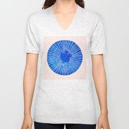 Blue Circle Unisex V-Neck